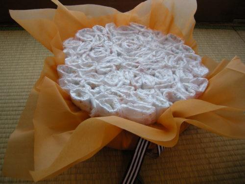 完成したケーキの土台